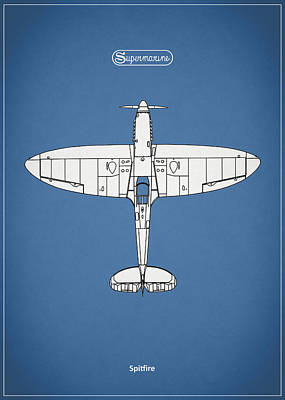 The Spitfire Print by Mark Rogan