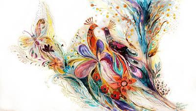 The Splash Of Life Series Pure White No 1 Print by Elena Kotliarker