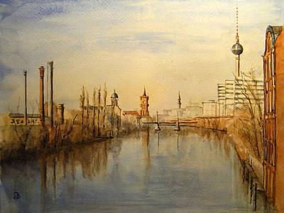 Berlin Germany Painting - The Spree Berlin by Juan  Bosco
