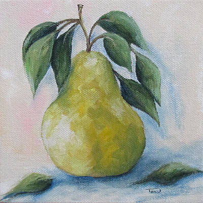 Pear Painting - The Spring Pear by Torrie Smiley