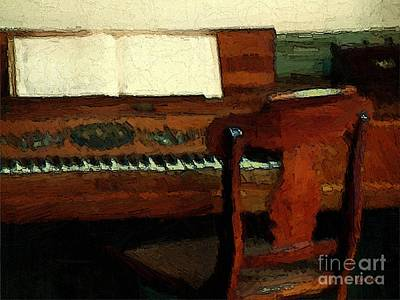 The Square Piano Print by RC DeWinter