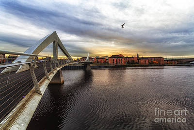 Sunset At The Bridge Photograph - The Squiggly Bridge by John Farnan