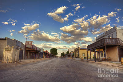 Old West Photograph - The Sreets Of Tombstone by Eddie Yerkish