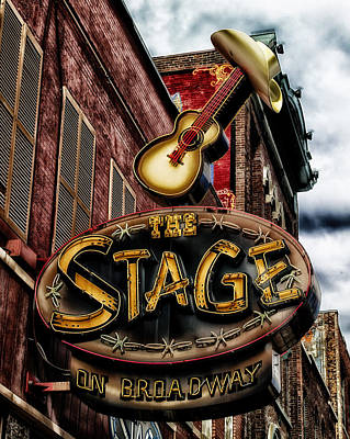 The Stage In Nashville Print by Mountain Dreams