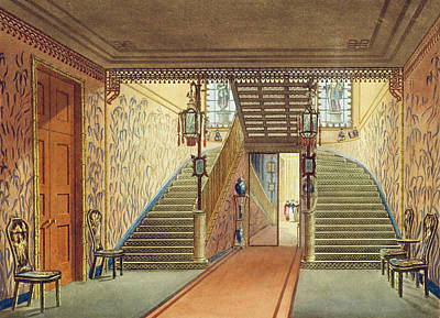The Staircase, From Views Of The Royal Print by John Nash