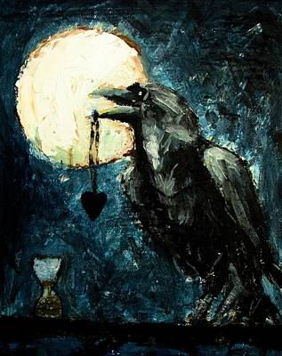 Heart Necklace Painting - The Stalker by Keith Johnson