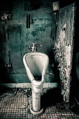 Urinal Photograph - The Stall by Gary Heller