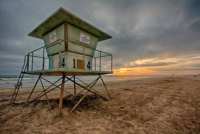 Lifeguard Photograph - The Stand by Peter Tellone