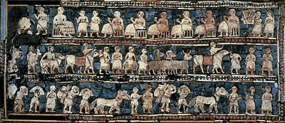 The Standard Of Ur. 2600 -2400 Bc Print by Everett