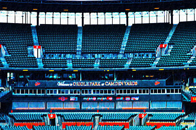 Oriole Digital Art - The Stands At Oriole Park by Bill Cannon