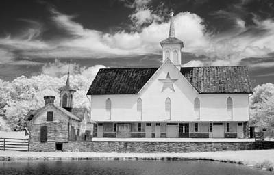 The Star Barn - Infrared Print by Paul W Faust -  Impressions of Light