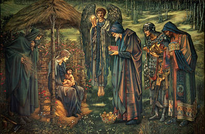 The Star Of Bethlehem Print by Edward Burne-Jones
