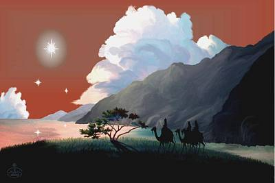 The Star Of Bethlehem Print by Ron Chambers