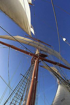 The Star Of India. Mast And Sails Print by Ben and Raisa Gertsberg