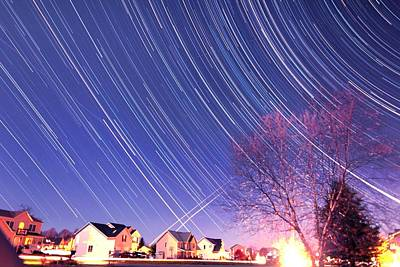 Micro Miniature Photograph - The Star Trails by Paul Ge