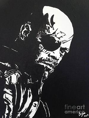 Samuel L Jackson Painting - The Stare by Christopher Jackson