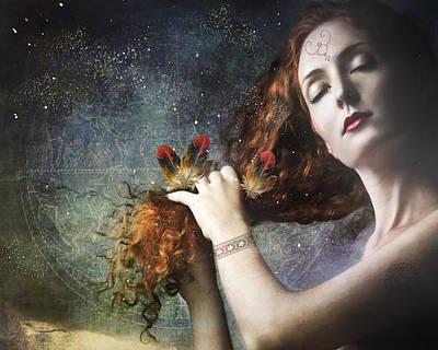 Goddess Mythology Mixed Media - The Stars Are My Home by Terry Fleckney