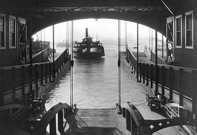 Staten Photograph - The Staten Island Ferry by Underwood Archives