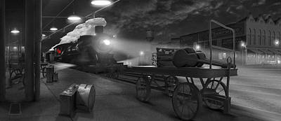 The American Dream Digital Art - The Station - Panoramic by Mike McGlothlen