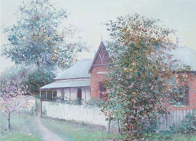 Farm House Painting - The Stationmaster's Cottage by Jan Matson