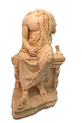 The Statue Of The Unidentified Philosopher Print by Tracey Harrington-Simpson