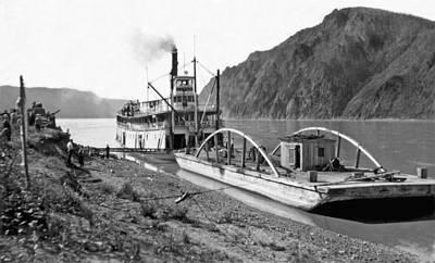 White River Scene Photograph - The Steamer yukon In Alaska by Underwood Archives