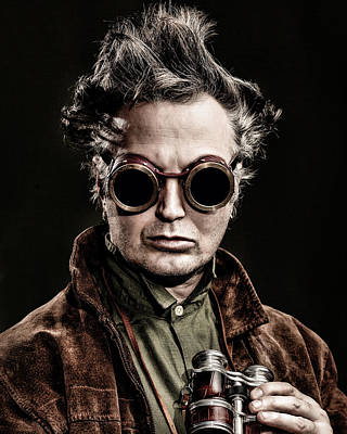Self-portrait Photograph - The Steampunk - Sci-fi by Gary Heller