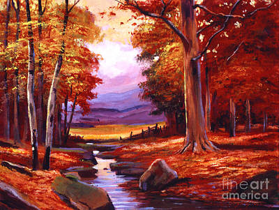 Fallen Leaves Painting - The Stillness Of Autumn by David Lloyd Glover
