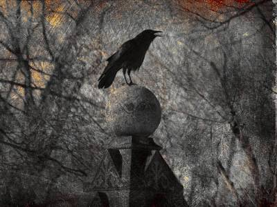 The Stone Globe Print by Gothicolors Donna Snyder
