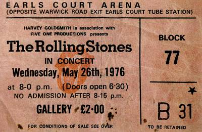 The Stones Play London Print by Benjamin Yeager