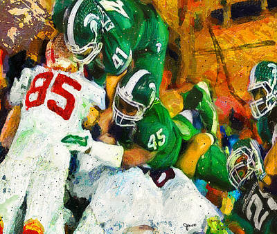 Michigan State Painting - The Stop by John Farr