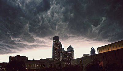 Ghost Busters Photograph - The Stormy City by Kenny  Noddin