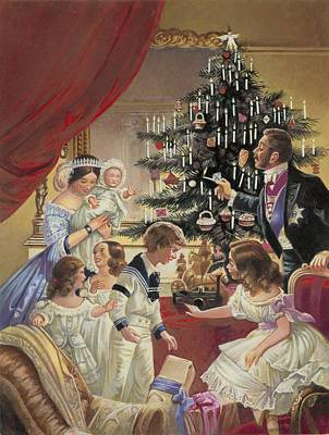 Tiara Painting - The Story Of The Christmas Tree by C L Doughty