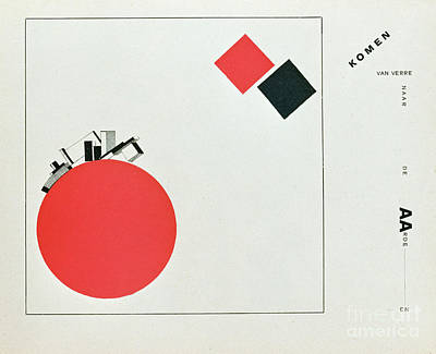 The Story Of Two Squares Print by El Lissitzky
