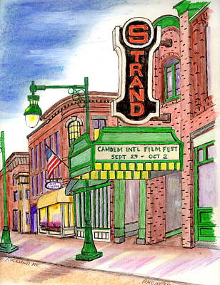 The Strand In Rockland Me Original by Paul Meinerth