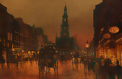 Wet On Wet Painting - The Strand - London 1899 by Mountain Dreams