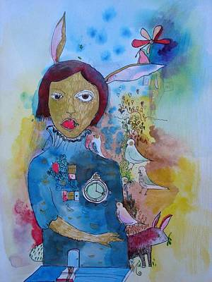 Painting - The Strange Life II by Aurelija Kairyte-Smolianskiene