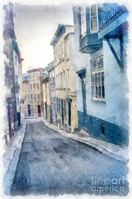 The Streets Of Old Quebec City Print by Edward Fielding