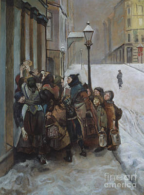 Meal Painting - The Struggle For Existence by Christian Krohg