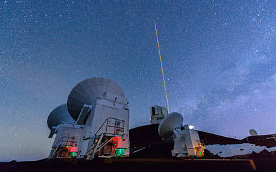 Keck Photograph - The Submillimeter Array And Subaru 2 by Jason Chu