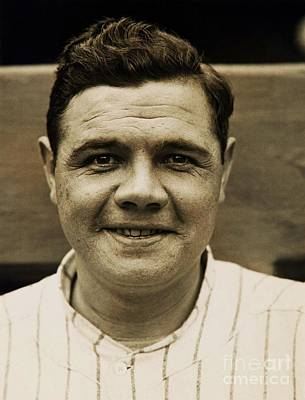 Babe Ruth Photograph - The Sultan Of Swat by Pg Reproductions