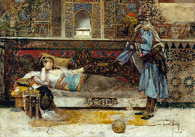 Antonio Fabres Painting - The Sultans Gift by Antonio Fabres