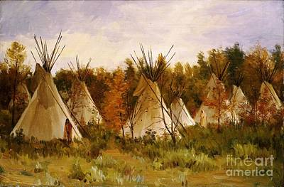 U.s.pd Painting - The Summer Camp by Pg Reproductions