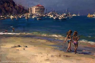 E 20 Painting - The Summer In Catalina by Cao Yong