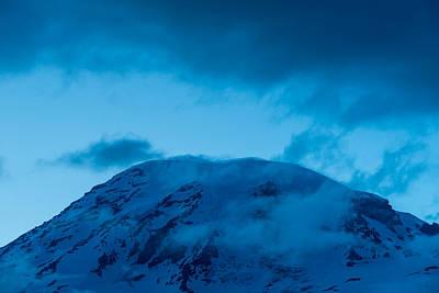 The Summit Mt Rainier Print by Steve Gadomski