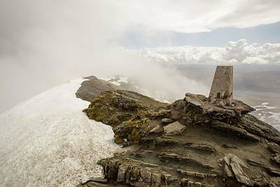 Snow Melt Photograph - The Summit Of Ben Lawers by Ashley Cooper