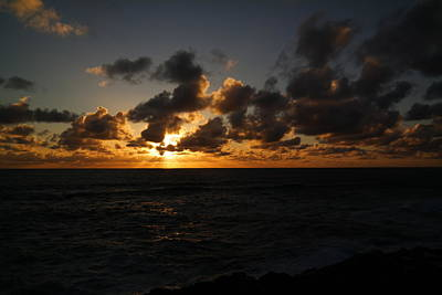 The Sun And Ocean Print by Jeff Swan