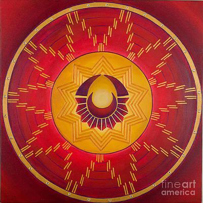 Sacred Feminine Moon Painting - The Sun Celebrates The Moon by Charlotte Backman