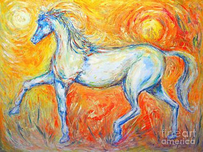 The Sun Horse Print by Frederick  Luff