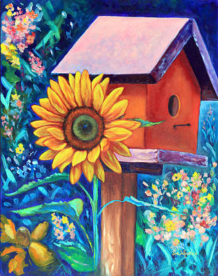 The Sunflower Suite Print by Eve  Wheeler